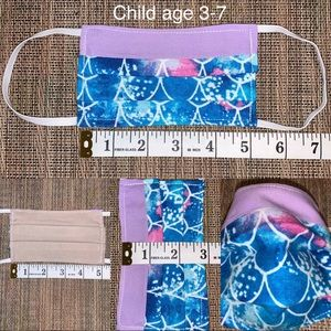 Other - Child age 3-7 mermaid/purple fabric face mask new